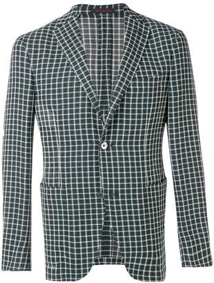 The Gigi woven grid check blazer
