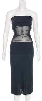 Jean Paul Gaultier Strapless Midi Dress