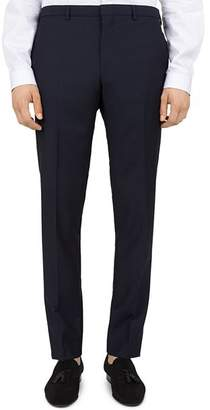 The Kooples Embossed-Check Wool Slim Fit Trousers