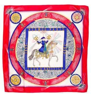 Hermes Feux d'Artifice Jacquard Scarf