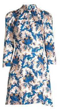 Sandro Utopique Floral Silk Sheath Dress