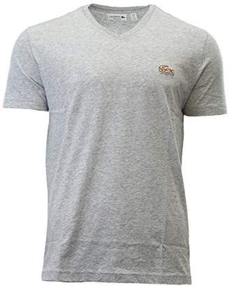 Lacoste Men's V-Neck Shirt & Turtle Silver Chine CCA