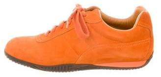 Hermes Suede Low-Top Sneakers