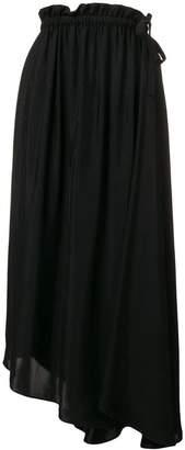 Kenzo drawstring flared midi skirt