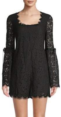 Rachel Zoe Yael Floral Lace Bell-Sleeve Romper