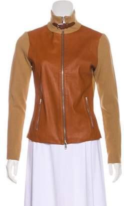 Ralph Lauren Leather Zip-Up Jacket