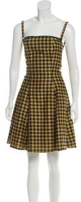 Prada Checkered Wool Dress