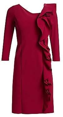 Teri Jon by Rickie Freeman by Rickie Freeman Women's Asymmetrical Ruffled Sheath Dress