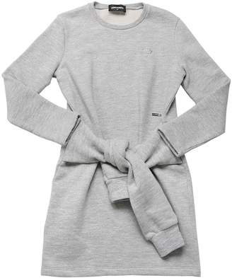 DSQUARED2 Cotton Sweatshirt Dress