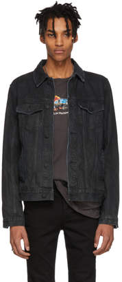 Ksubi Black Denim Classic Black Tar Jacket