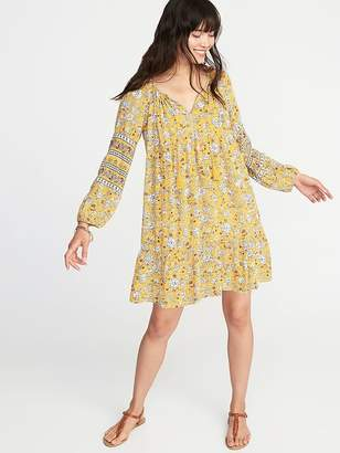 Old Navy Boho Tassel-Tie Floral Swing Dress for Women