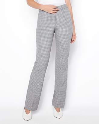 Express Mid Rise Mini Plaid Barely Boot Curve Pant