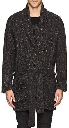 Theory Men's Donegal-Effect Wool-Blend Oversized Cardigan
