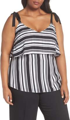 City Chic Stripe It Lucky Top