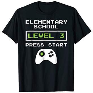 3rd Grade Shirt Back to School Level 3 Video Game Tee