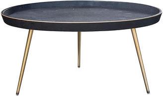 One Kings Lane Josephine Faux-Shagreen Coffee Table - Black