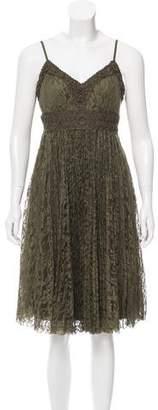 Sue Wong Lace Sleeveless Dress