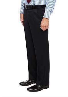 City Club Fl Fr Wool/Pol/Elast Plain Flexi Trouser