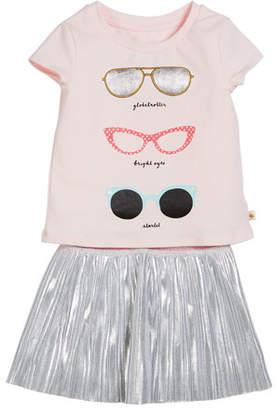 Kate Spade Sunglasses Tee W/ Metallic Skirt, Size 2-6x