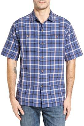 Tommy Bahama Peninsula Plaid Silk Blend Camp Shirt