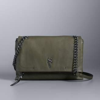 Vera Wang Simply Vera Garrison Double Entry Flap Crossbody Bag
