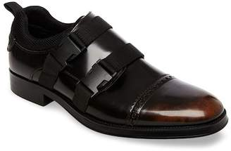 Steve Madden Double Strap Cap Toe Leather Loafer
