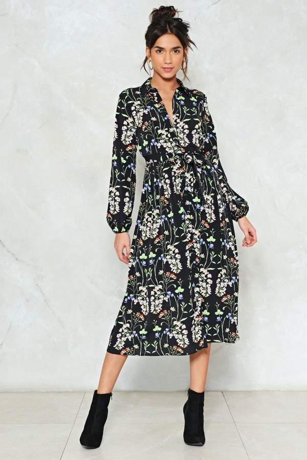 nastygal Midi Child Floral Dress