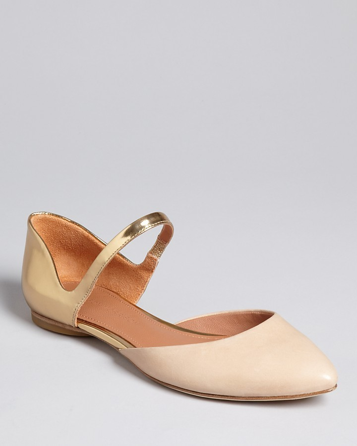Sigerson Morrison Pointed Toe Mary Jane Flats - Holli2