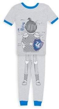 Petit Lem Little Boy's Two-Piece Pajama Top and Cotton Pants Set