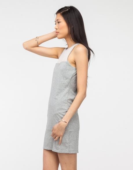 Keyhole Mesh Dress
