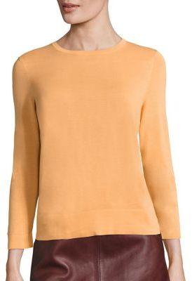 SET Cotton-Blend Crewneck Sweater $195 thestylecure.com