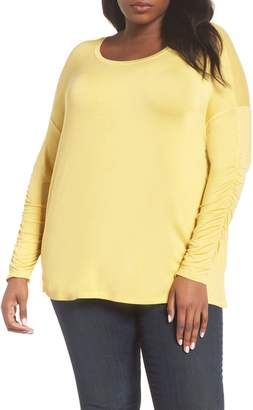 Sejour Ruched Sleeve Tee