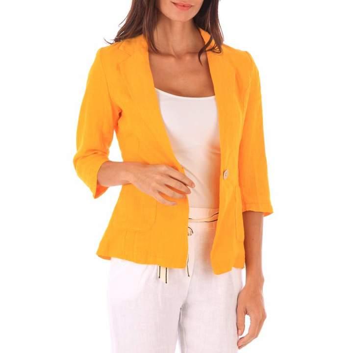 Orange Linen Jacket