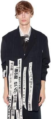 Yohji Yamamoto Writing Printed Rayon Jacket