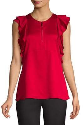 MICHAEL Michael Kors Sleeveless Ruffle Top