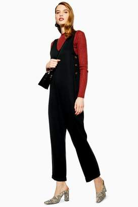 Topshop Slouchy Button Jumpsuit
