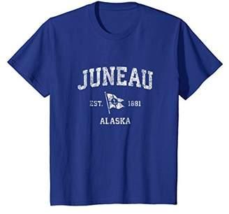 Juneau Alaska AK Vintage Boat Anchor Flag Design Tee
