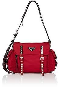 Prada Women's Leather-Trimmed Messenger Bag - Red