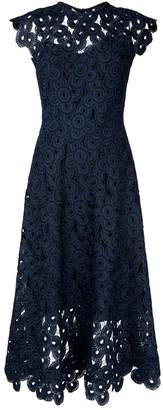 Lela Rose Guipure Lace Midi Dress
