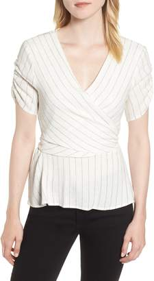 1 STATE 1.STATE Ticking Stripe Wrap Top