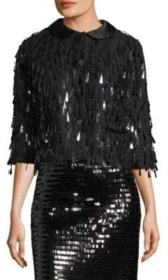 Marc Jacobs Sequin Three-Quarter Sleeve Jacket