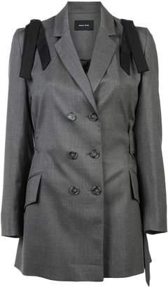 Simone Rocha Bow shoulder mid-length blazer
