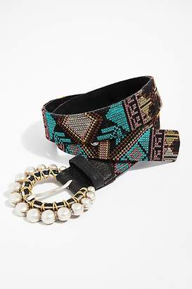 Leather Rock Lola Embroidered Belt