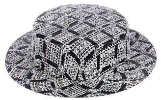 Chanel 2016 Tweed Boater Hat