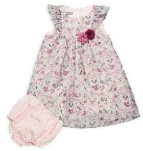 Baby Girl's Two-Piece Floral Dress & Bloomers Set