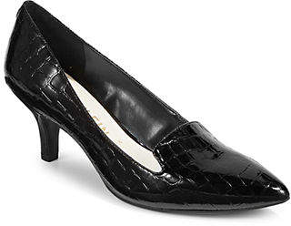 Anne Klein Point Toe Crocodile Pumps