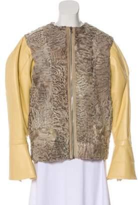 Fur Persian Lamb & Leather Jacket