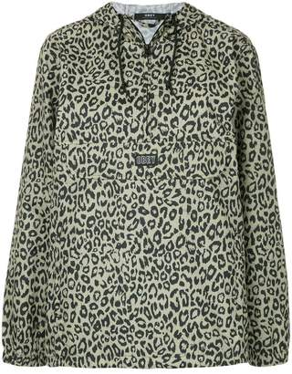 Obey leopard print hoodie