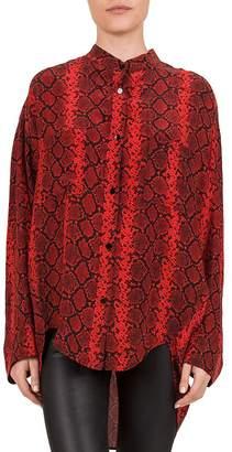 The Kooples Red Hot Snake Print Shirt