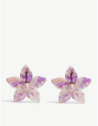 BaubleBar Amariella flower resin earrings